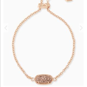 Elaina Rose Gold Chain Bracelet In Rose Gold Drusy